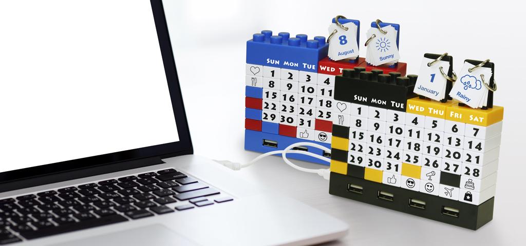 perpetual/Blocks Puzzle Calendar with USB – KRYASH Malaysia