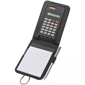 Notepad+with+calculator+and+elastic+strap+in+canvas+look+made+of+synthetic+fibre+black,2791403_offen_21