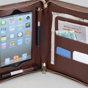 i Pad Mini Portfolio Purse case with notepad holder and iPad Mini Pocket for iPad Mini 4
