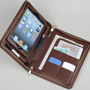 i Pad Mini Portfolio Purse case with notepad holder and iPad Mini Pocket for iPad Mini 4