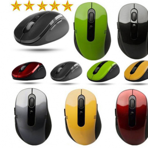 2.4G USB 2.0 Wireless1200 DPI Mouse Slim Mice 2.4G Receiver